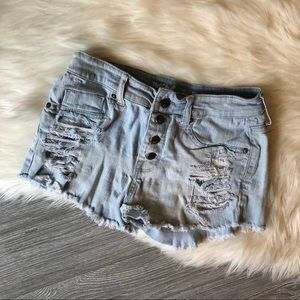 Mossimo High Rise Distressed Denim Shorts